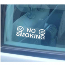 2 x No Smoking Window Stickers-Small Version-For Business,Taxi,Mini Cab,Home,Car,Van,Vehicle-Health and Safety